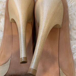 Stuart Weitzman Shoes - Stuart Weitzman Open Toe Nude Platforms sz. 7.5